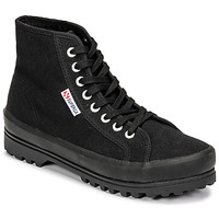 Skor Dam Höga sneakers Superga 2341 ALPINA COTU Svart
