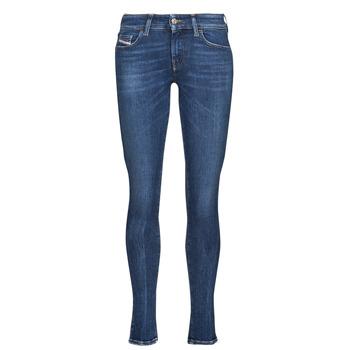 textil Dam Skinny Jeans Diesel SLANDY-LOW Blå / Mörk