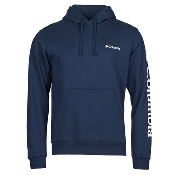 textil Herr Sweatshirts Columbia VIEWMONT II SLEEVE GRAPHIC HOODIE Marin / Vit