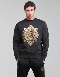 textil Herr Sweatshirts Versace Jeans Couture VEMBLEM LEAF Svart / Guldfärgad