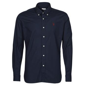 textil Herr Långärmade skjortor U.S Polo Assn. DIRK 51371 EH03 Marin