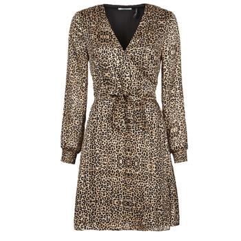 textil Dam Korta klänningar Les Petites Bombes CECILIE Leopard