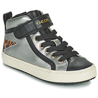 Skor Flickor Höga sneakers Geox KALISPERA Silver