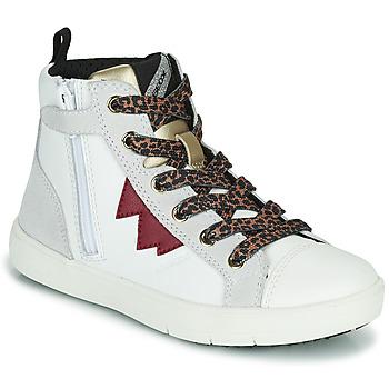 Skor Flickor Höga sneakers Geox SILENEX Vit