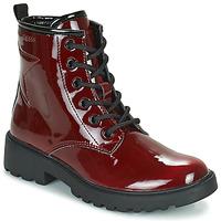 Skor Flickor Boots Geox CASEY Bordeaux