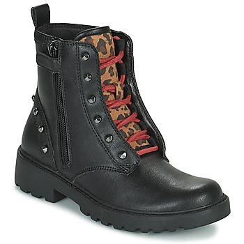Skor Flickor Boots Geox CASEY Svart