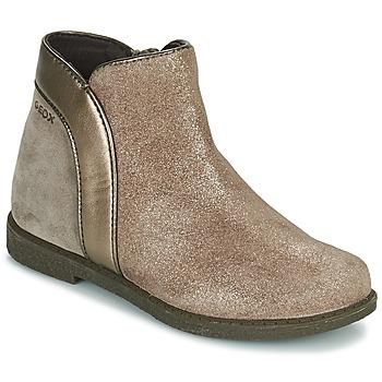 Skor Flickor Boots Geox SHAWNTEL Guldfärgad