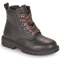 Skor Flickor Boots Geox SHAYLAX Svart