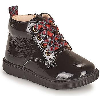 Skor Flickor Boots Geox HYNDE Svart