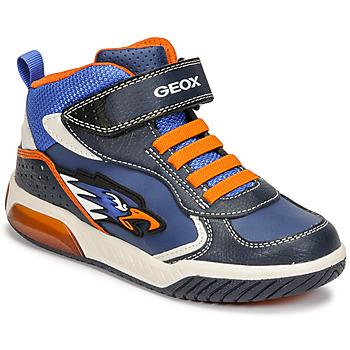 Skor Pojkar Höga sneakers Geox INEK Blå / Orange