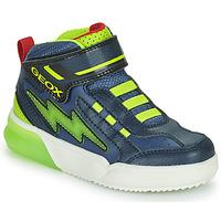 Skor Pojkar Höga sneakers Geox GRAYJAY Marin / Grön
