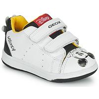 Skor Pojkar Sneakers Geox NEW FLICK Vit / Svart / Röd