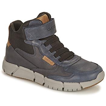 Skor Pojkar Boots Geox FLEXYPER Marin / Kamel