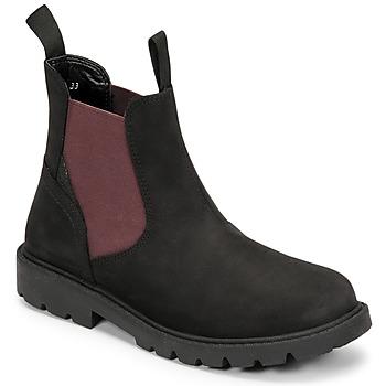 Skor Pojkar Boots Geox SHAYLAX Svart / Bordeaux