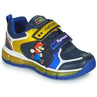 Skor Pojkar Sneakers Geox ANDROID Blå / Gul