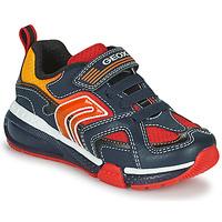 Skor Pojkar Sneakers Geox BAYONYC Marin / Orange