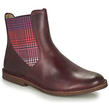 Skor Dam Boots Kickers TINTO Bordeaux / Mörk