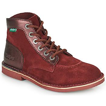 Skor Dam Boots Kickers ORILEGEND Bordeaux / Mörk