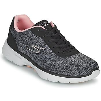 Skor Dam Sneakers Skechers GO WALK 6 Grå / Rosa