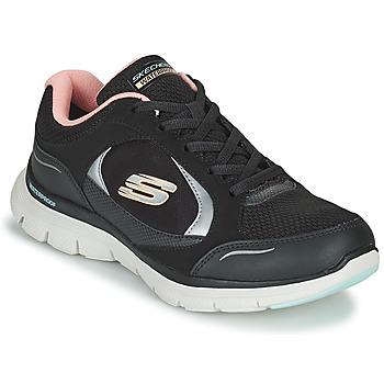 Skor Dam Sneakers Skechers FLEX APPEAL 4.0 Svart / Rosa