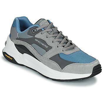 Skor Herr Sneakers Skechers GLOBAL JOGGER Grå / Blå