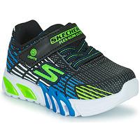Skor Pojkar Sneakers Skechers FLEX-GLOW ELITE Svart / Blå / Led