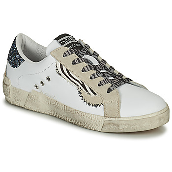 Skor Dam Sneakers Meline NK139 Vit / Glitter / Blå