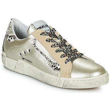 Skor Dam Sneakers Meline NK139 Guldfärgad / Pytonfärgad