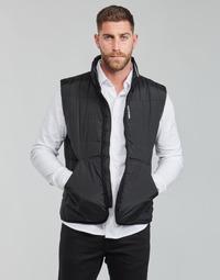 textil Herr Täckjackor Calvin Klein Jeans PADDED VEST Svart