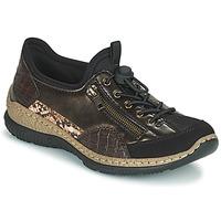 Skor Dam Sneakers Rieker ALINDA Brons / Svart