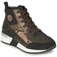 Skor Dam Höga sneakers Rieker MANKA Svart / Brun