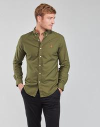 textil Herr Långärmade skjortor Polo Ralph Lauren DRISSY Kaki