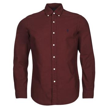 textil Herr Långärmade skjortor Polo Ralph Lauren KAOLMA Bordeaux