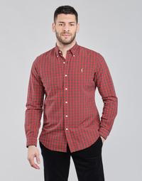 textil Herr Långärmade skjortor Polo Ralph Lauren TALIKA Röd / Flerfärgad