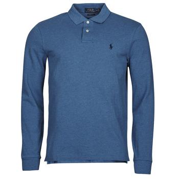 textil Herr Långärmade pikétröjor  Polo Ralph Lauren KETINA Blå