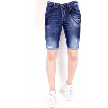 textil Herr Shorts / Bermudas Local Fanatic Halvlånga Shorts Bla Blå