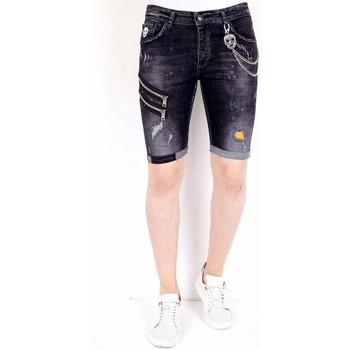 textil Herr Shorts / Bermudas Local Fanatic Exclusive Slim Fit Korte Broek Heren  Zwart Svart