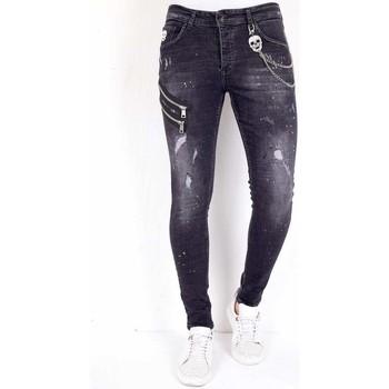 textil Herr Stuprörsjeans Local Fanatic Jeans Modeller Svart