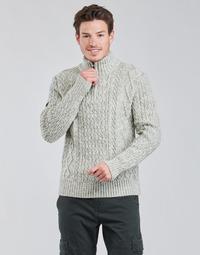 textil Herr Tröjor Superdry JACOB HENLEY Grå