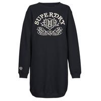 textil Dam Korta klänningar Superdry PRIDE IN CRAFT OS CREW DRESS Blå