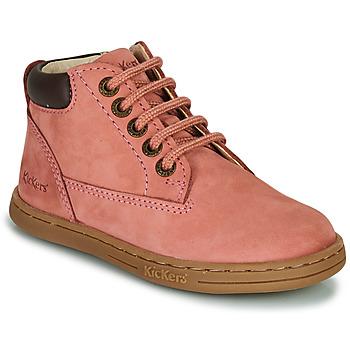 Skor Flickor Boots Kickers TACKLAND Rosa