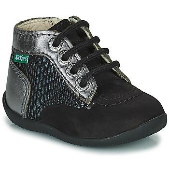 Skor Flickor Boots Kickers BONZIP-2 Svart / Silver