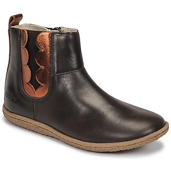 Skor Flickor Boots Kickers VETUDI Brun