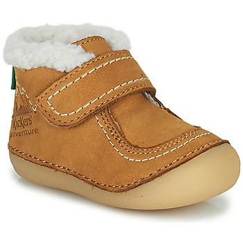 Skor Flickor Boots Kickers SOMOONS Kamel