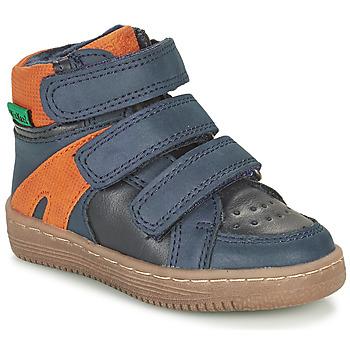 Skor Pojkar Boots Kickers LOGGAN Marin / Orange