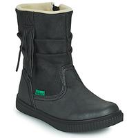 Skor Flickor Boots Kickers RUMBY Svart