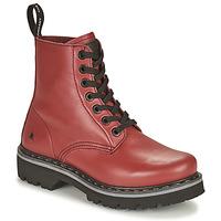 Skor Dam Boots Art MARINA Bordeaux