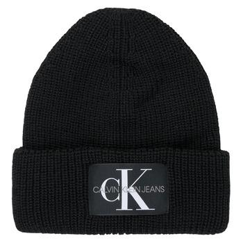 Accessoarer Dam Mössor Calvin Klein Jeans MONOGRAM BEANIE WL Svart