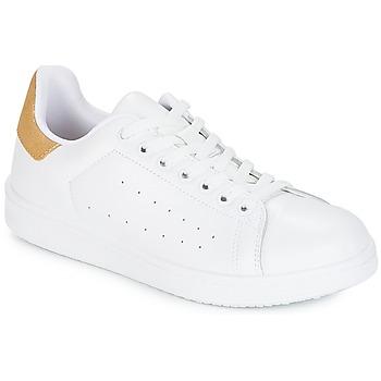 Skor Dam Sneakers Yurban SATURNA Vit / Guldfärgad