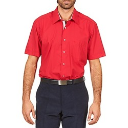 Kortärmade skjortor Pierre Cardin CH MC POPELINE UNIE - OPPO RAYURE INTERIEUR COL & POIGNET